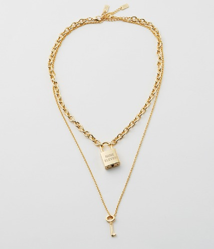 NE Lock Pendant Necklace-G