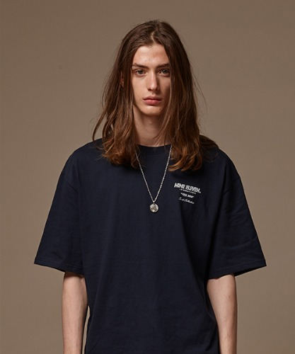 BASIC LOGO T - NAVY