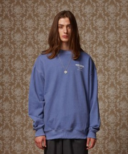 PIGMENT WASHED CREWNECK (BLUE)