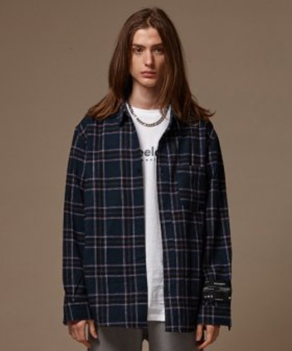 SEMI OVER CHECK SHIRT (BLUE GREEN)
