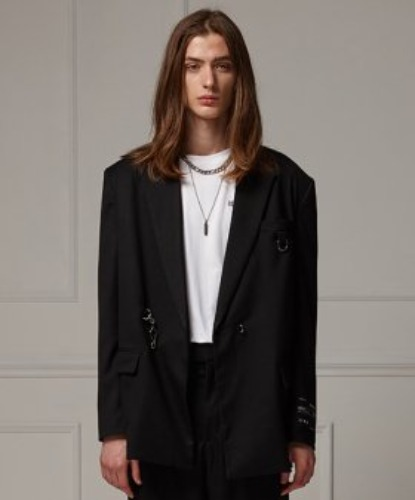 SEMI OVER BUCKLE SUIT JACKET (BLACK)
